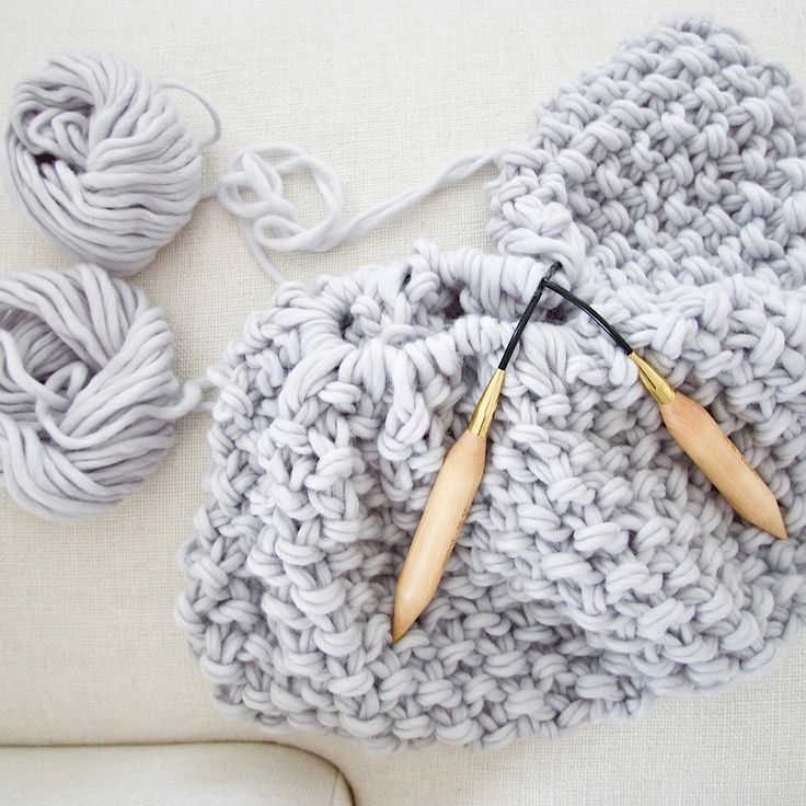 Birch knitting needles | Free Chunky Wool Blanket Pattern Download | Design The Life You Want To Live | Lynne Knowlton