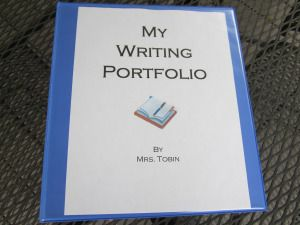 writing portfolio binder - great ideas for open house!
