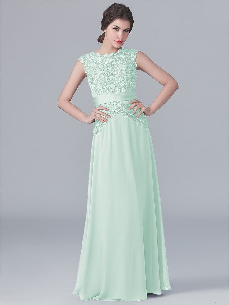 Pin to Win a Wedding Gown or 5 Bridesmaid Dresses! Simply pin your favorite dresses on www.forherandforhim.com to join the contest! | Lace and Chiffon Dress $179.99