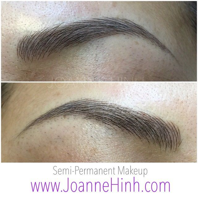 Hairstroke Eyebrow Embroidery (Semi-Permanent Makeup)  www.JoanneHinh.com