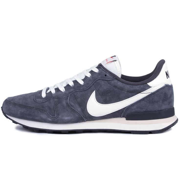 Nike Internationalist PGS LTR Anthracite / Sail / Black - Nike The version of the Nike Internationalist in Anthracite blue features suede uppers with a leather Swoosh, an EVA midsole and a rubber outsole.
