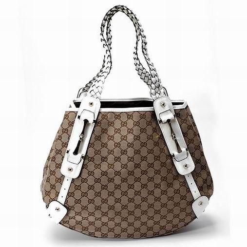 2014 Cuir et Toile Portés épaule Sac Gucci Femme Fashion et Tend