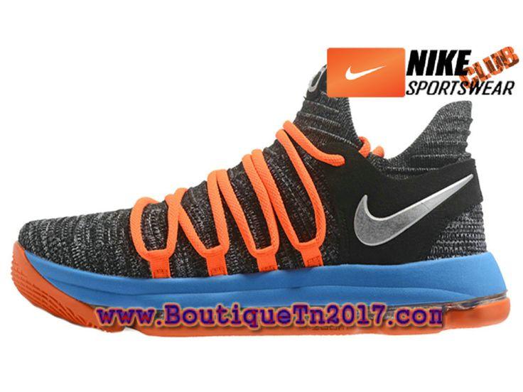 Nike Zoom KD 10 Chaussures Nike Basket Pas Cher Pour Homme Bleu Noir