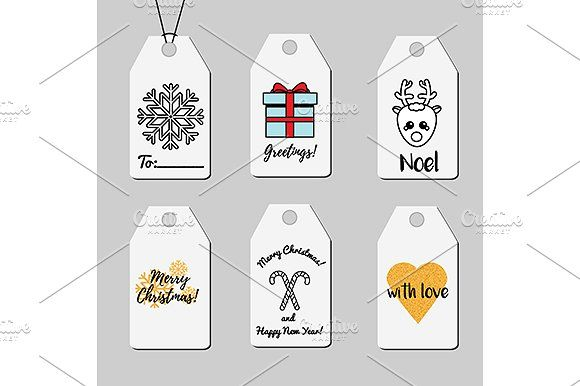 Christmas shopping and gift tags by KSU's Little Shop on @creativemarket