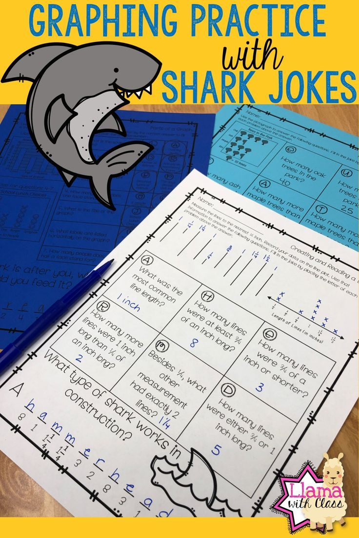Looking For A Fun Way To Practice Graphing Skills With Your Third Grade Class Use These Printable Worksheets That Pra Shark Jokes Graphing Worksheets Graphing [ 1104 x 736 Pixel ]