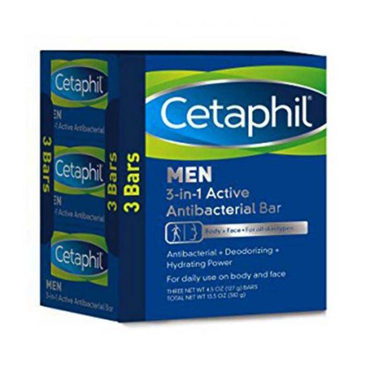 Cetaphil men 3in1 active antibacterial bars 3 bars