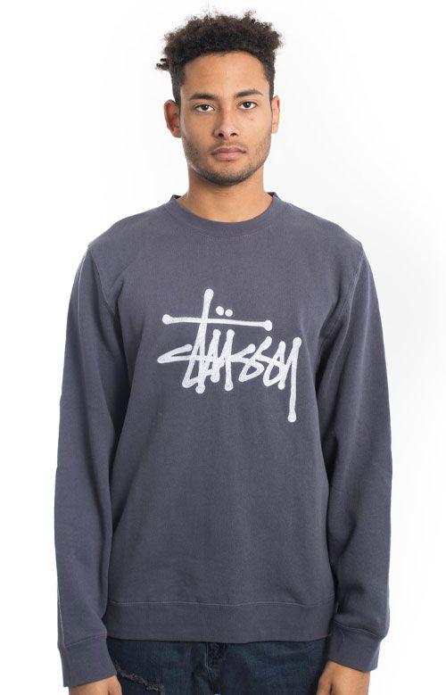 Stussy, Chain Stitch App. Crewneck - Midnight  - Sweatshirts / Hoodies - MOOSE Limited