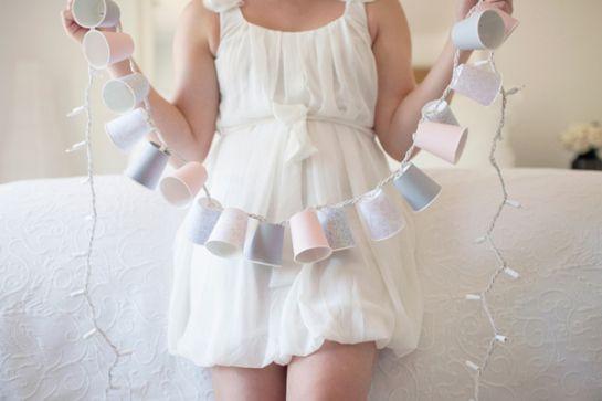 Luminária de copo descartável