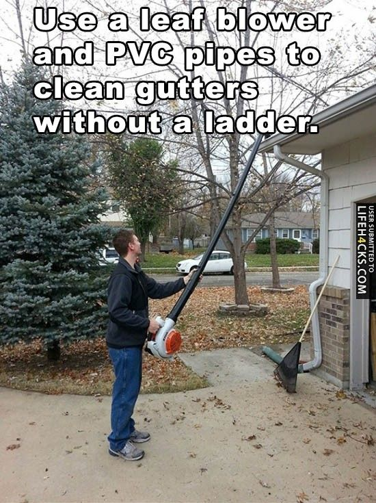 How To Clean Gutters Without A Ladder - Life H4cks