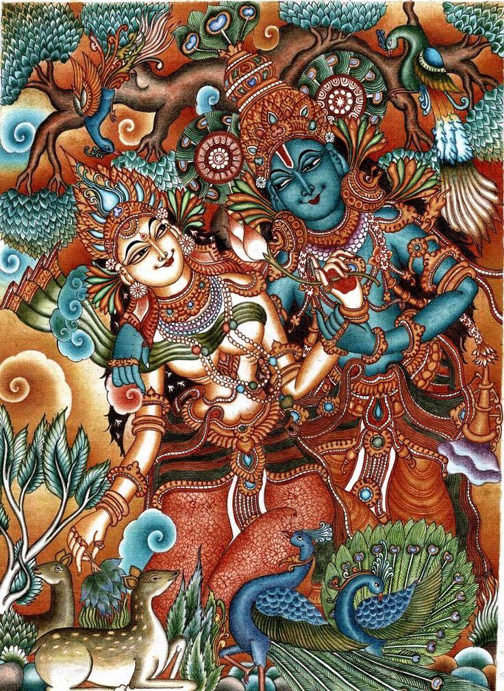 RADHA KRISHNA #Creative #Art #Painting @touchtalent.com