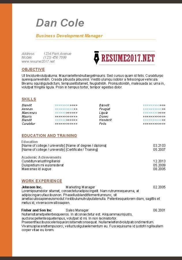 Template 2017 Free Printable Resume Functional Resume