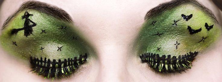Ghoulish Green eye makeup for my Avocado Halloween! #iloveavocadosforhalloween