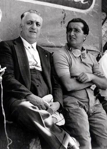 Enzo Ferrari and Alberto Ascari