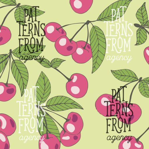 Garden – Cherry by Noora Hattunen  #patternsfromagency #patternsfromfinland #pattern #patterndesign #surfacedesign #printdesign #noorahattunen