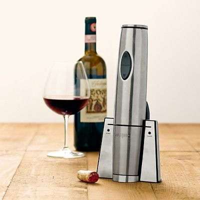 I think this is something I need to buy once I have my own apartment and buy my own wine: Waring Commercial Electric Wine Opener