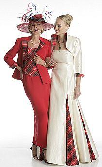tartan gowns | Scottish Weddings | Scottish Tartans Authority