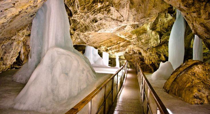 Demänovská ice cave in Low Tatras, Slovakia