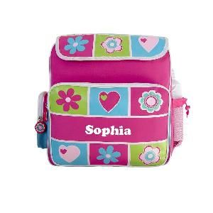 This personalised backpack is a great all rounder for school, after school sports and sleepovers. Your child is never going to lose this bag.  FEATURES * Material 100% polyester * Adjustable shoulder strap * Top zip opening * Side water bottle holder (drink bottle not included) * Velcro flap * Front pocket (with name) * Two side pockets * Personalisation maximum of 12 characters * Personalisation via Heat Press * Dimensions: 36cmH x 32cmW x 16cmD www.yayme.com.au/christinen