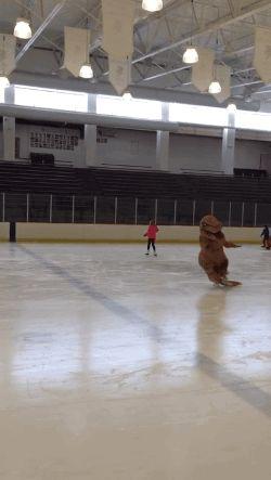 T Rex Ice Skating. [video] [Trex Tuesdays]