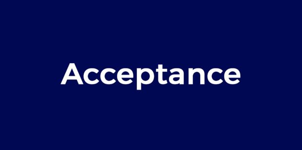 Developing acceptance and it's impact on our body and well-being - enjoy the audio's in our presentation of the word 'Acceptance':