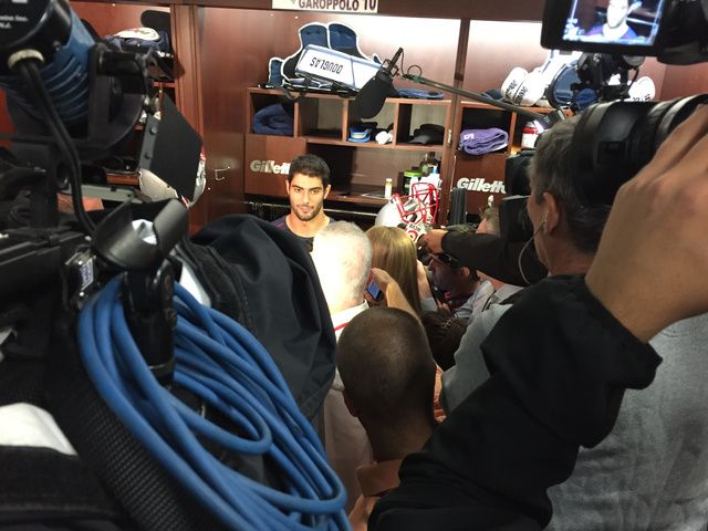 Jimmy Garoppolo says he didn't feel pressure by the Patriots to play on Thursday.