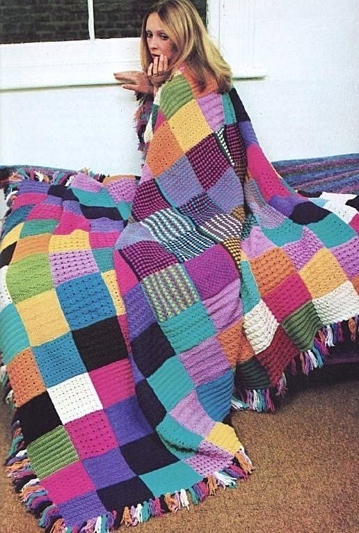 Free Knitting Pattern For Patchwork Quilt : 1000+ ideas about Easy Knit Blanket on Pinterest Knitted ...