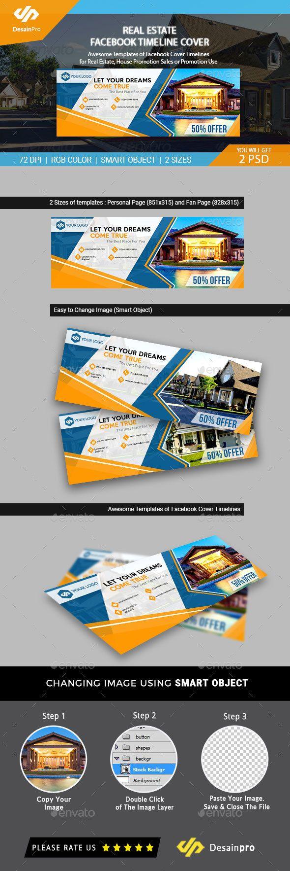 Real Estate Facebook Cover Templates