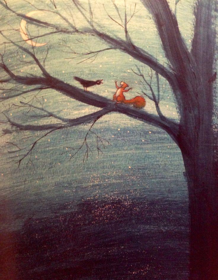 Illustratie Mies van Hout, uit het boek 'Ik ben Krik, Krik ben ik' van Hanna Kraan
