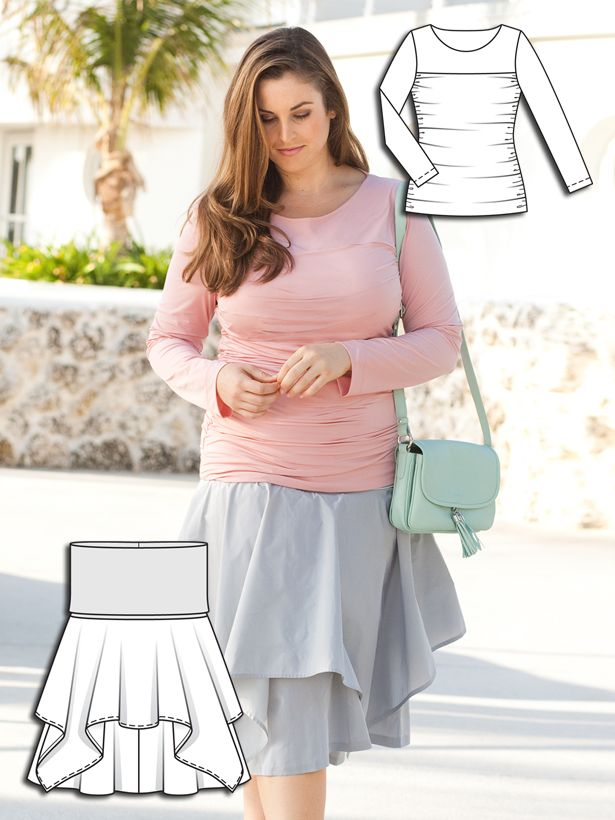 Pastel Spring: 6 New Plus Size SEWING Patterns – Sewing Blog | BurdaStyle.com