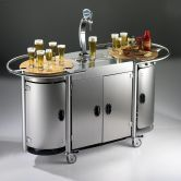 Would love to have this portable bar in my backyard.  It's got a kegerator inside!