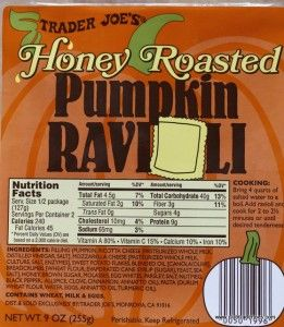 I really wanted to like these Trader Joe's Pumpkin Ravioli but they were too sweet for me!