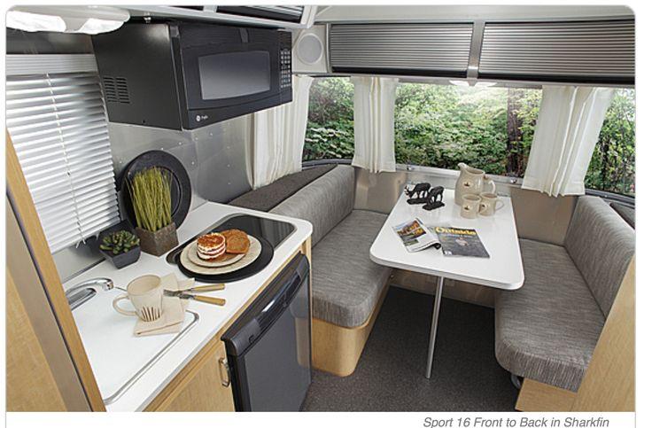 "Airstream 16' Sport with ""Sharkfin"" interior. Airstream.com"