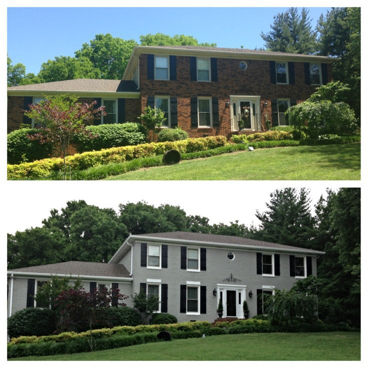 17 best images about painted brick houses on pinterest painted brick exteriors painted brick for Painted brick exterior before and after