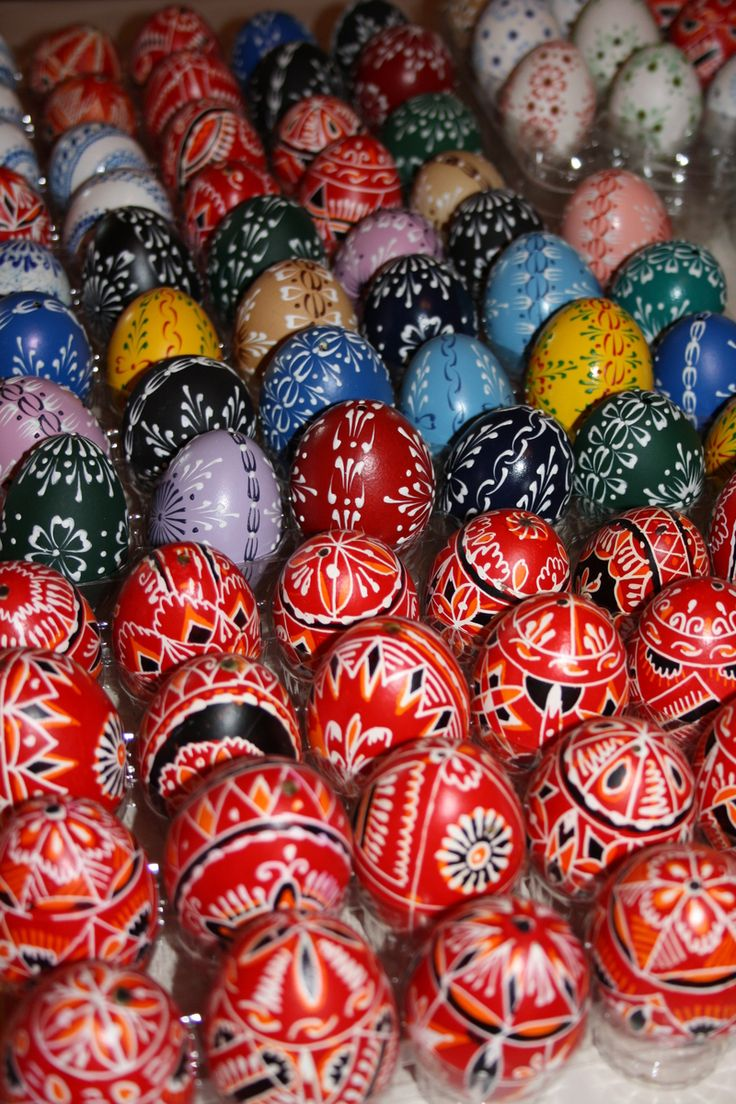 Traditional Easter eggs of Czechia