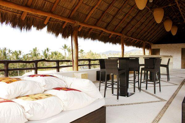 Terrace hotel Kupuri Sayulita Nayarit