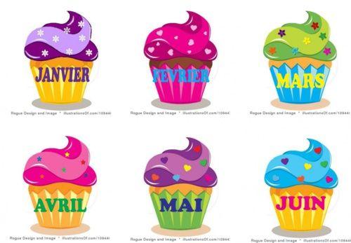 de superbes cupcakes pour les anniversaires!