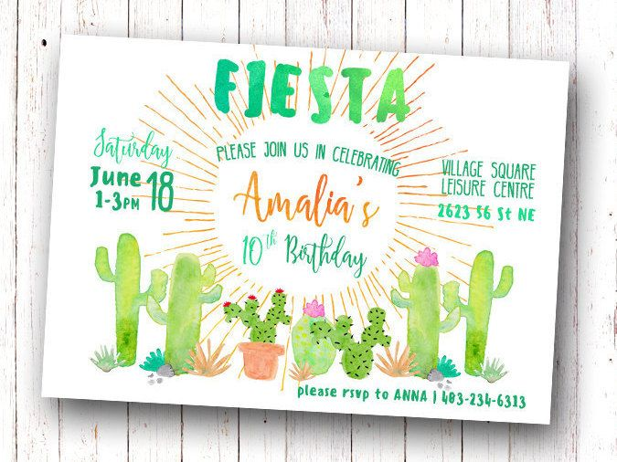 Invitation  Alt: https://www.etsy.com/listing/264217198/printable-mexican-fiesta-invitation?ga_order=most_relevant&ga_search_type=all&ga_view_type=gallery&ga_search_query=cactus%20invitation&ref=sr_gallery_10