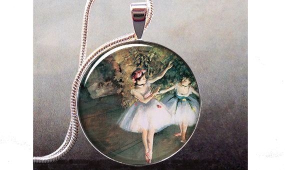Degas Ballerinas pendant ballerina jewelry by thependantemporium, $9.25