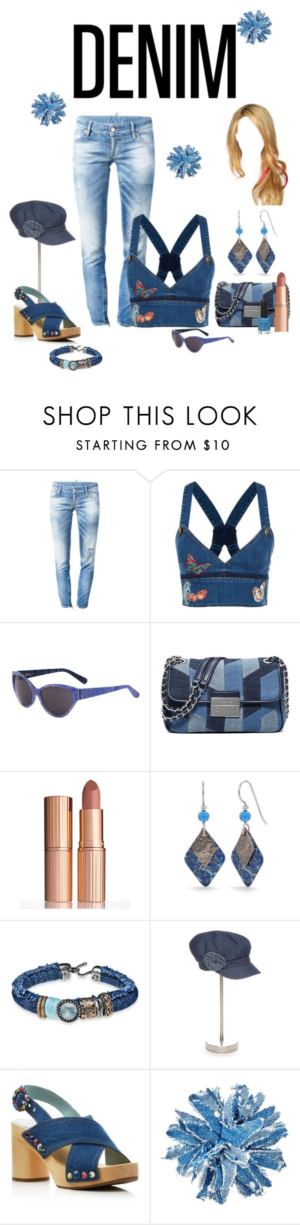 """""""Untitled #3142"""" by empathetic ❤ liked on Polyvore featuring Dsquared2, Valentino, Heidi London, MICHAEL Michael Kors, Charlotte Tilbury, Silver Forest, Platadepalo, New Directions, Marc Jacobs and Studio 1735"""