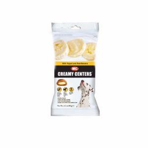 Healthy Centres Yogurt y Plátano, snacks para perros con gran sabor. Sin colorantes ni sabores artificiales. Rico en Omega 3 y calcio.