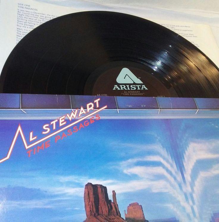 Al Stewart Time Passages Arista AB-4190 Vinyl LP VG US folk Pop Rock Music  #PopRock