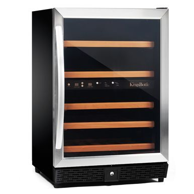 Kingsbottle 50 Bottle Dual Zone Wine Cooler (Stainless Steel)  http://qualitywinecoolers.com/products/kingsbottle-50-bottle-compressor-dual-zone-wine-cooler