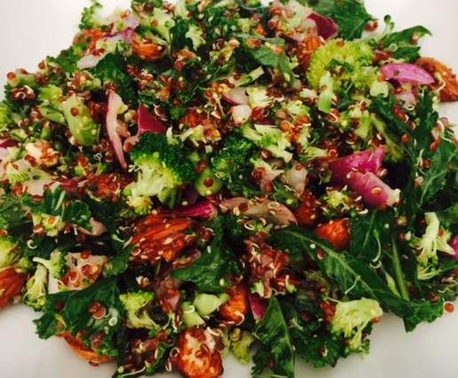 Recipe Quinoa, Broccoli, Kale & Almond Salad with Seeded Mustard Dressing by Vonn_Dub - Recipe of category Side dishes