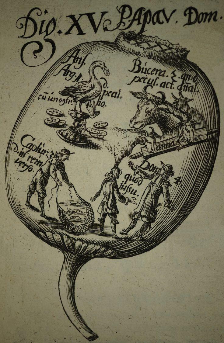 """Le droit enseigné par l'image (1/2) : illustrer le """"Corpus juris civilis"""". Détail : Digeste, livre XV, titres 1 à 4"""