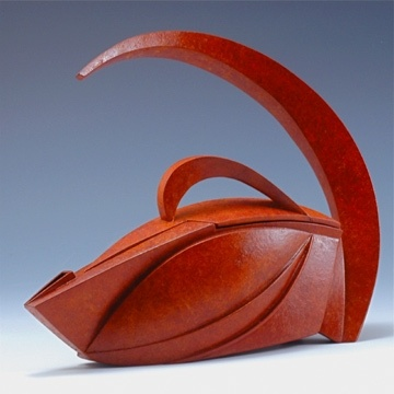 Darlys Ewoldt-Teapot, 2008 Bird Series Patinated Copper