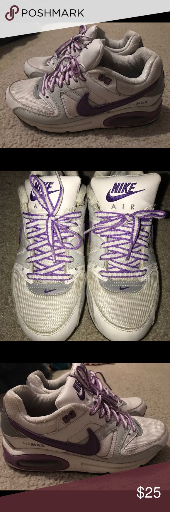 Nike Air Max Women's 9.5 Shoes are in great condition. Used but no odor.  They are purple and white. Nike Shoes Athletic Shoes