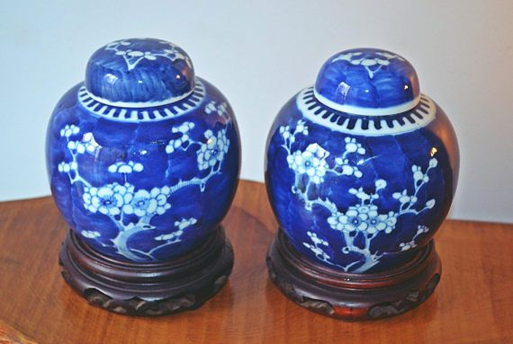 Check out this item in my Etsy shop https://www.etsy.com/ca/listing/511246428/asian-ginger-jars-prunus-blossom-ginger