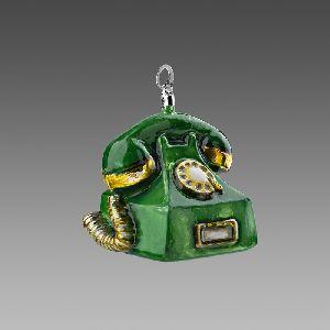 Старый телефон зеленый