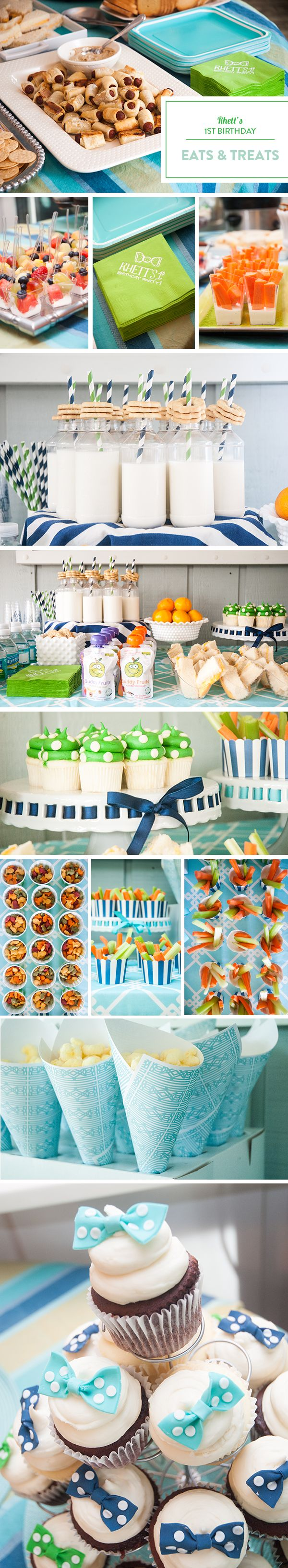 Rhett's Southern First Birthday Party by Emily McCarthy - Party Food Presentation Ideas