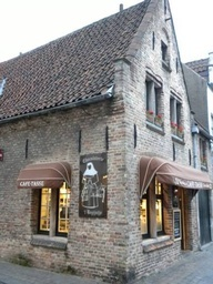 Chocolaterie t Begijntje Chocolate Shop in Bruges, Belgium